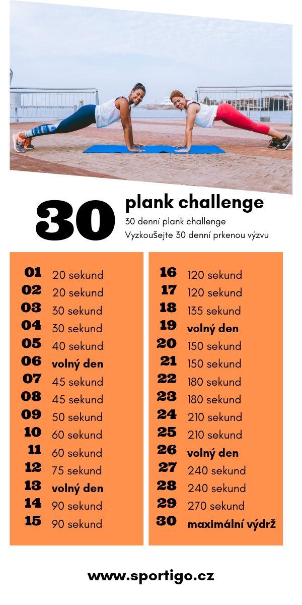 30 denní plank challenge