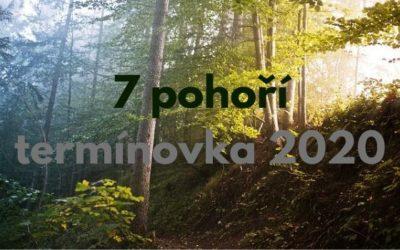 7 pohoří – termínová listina 2020