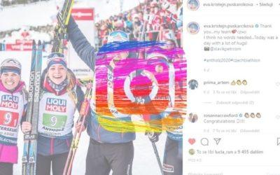Biatlonové hvězdy a Instagram