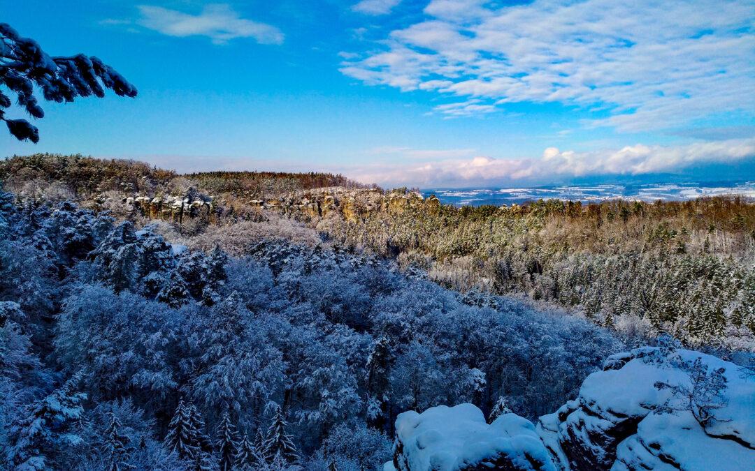Zimní trail Příhrazskými skálami